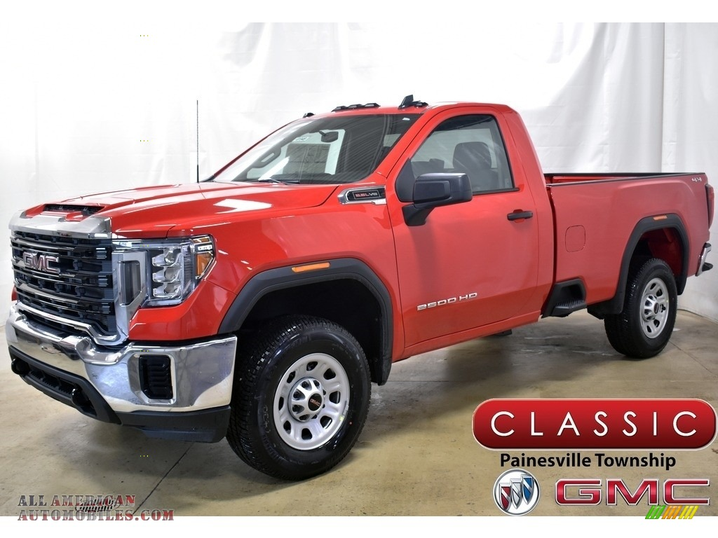 2020 Sierra 2500HD Regular Cab 4x4 - Cardinal Red / Jet Black photo #1