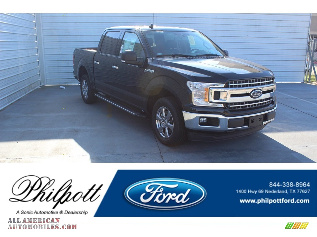 2020 F150 XLT SuperCrew - Agate Black / Medium Earth Gray photo #1