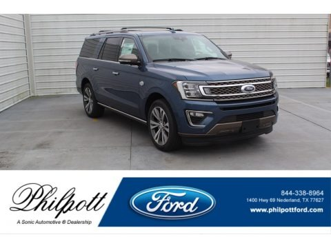 Blue 2020 Ford Expedition King Ranch Max