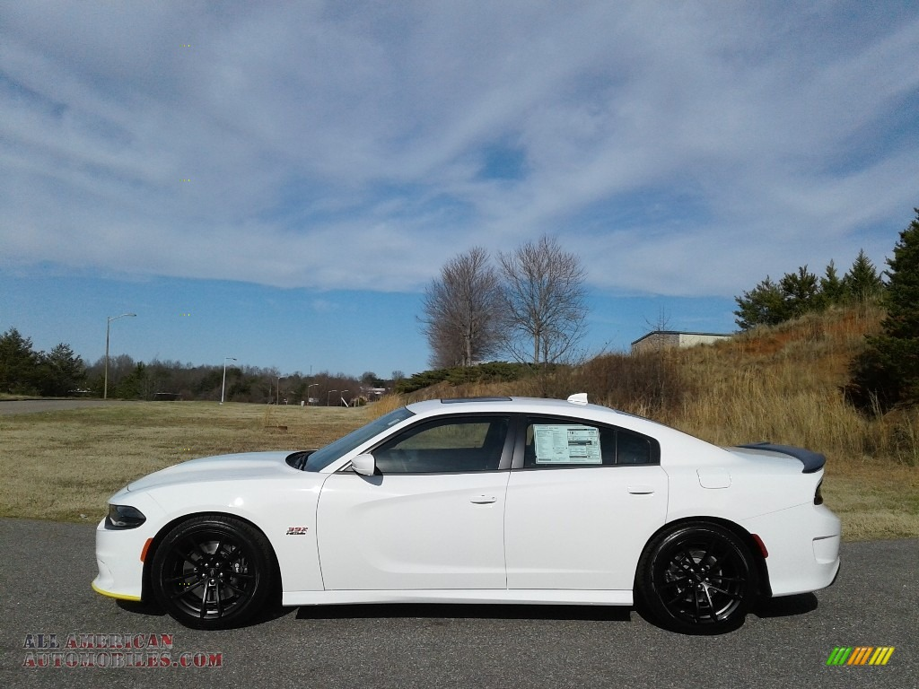 2020 Charger R/T Scat Pack - White Knuckle / Black/Caramel photo #1