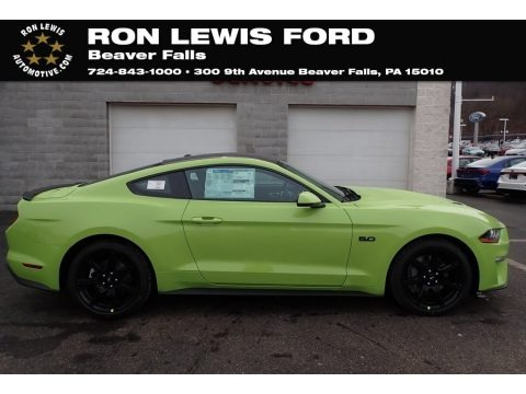 Grabber Lime 2020 Ford Mustang GT Premium Fastback