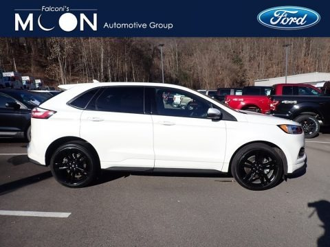 Star White Metallic Tri-Coat 2020 Ford Edge ST AWD