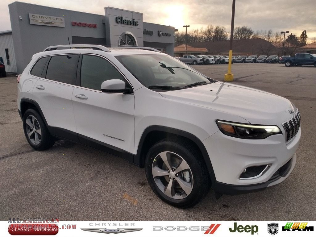 2020 Cherokee Limited 4x4 - Bright White / Black photo #1