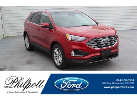 Rapid Red Metallic 2020 Ford Edge SEL