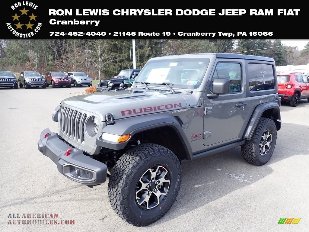 2020 Wrangler Rubicon 4x4 - Sting-Gray / Black photo #1