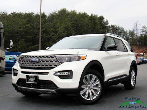 Star White Metallic Tri-Coat 2020 Ford Explorer Limited 4WD