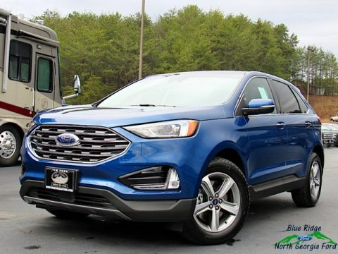 Atlas Blue Metallic 2020 Ford Edge SEL AWD