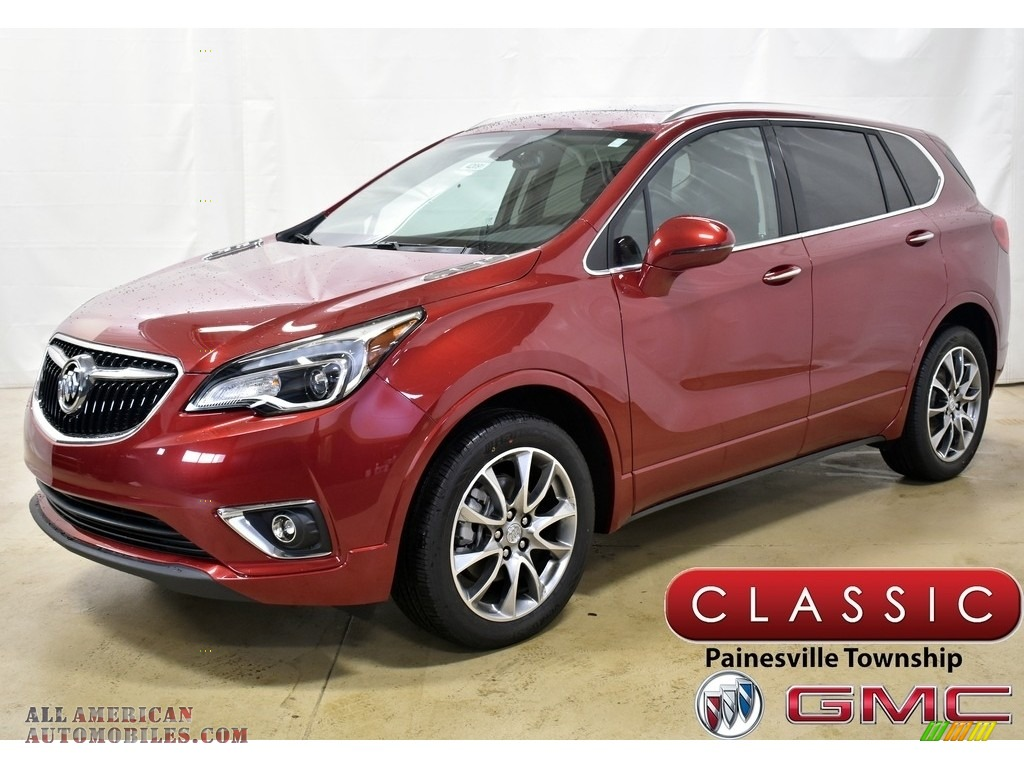 2020 Envision Essence AWD - Chili Red Metallic / Ebony photo #1
