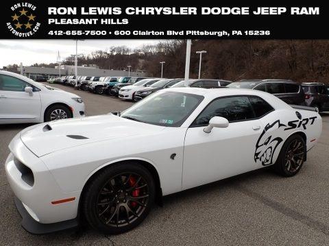 Bright White 2016 Dodge Challenger SRT Hellcat