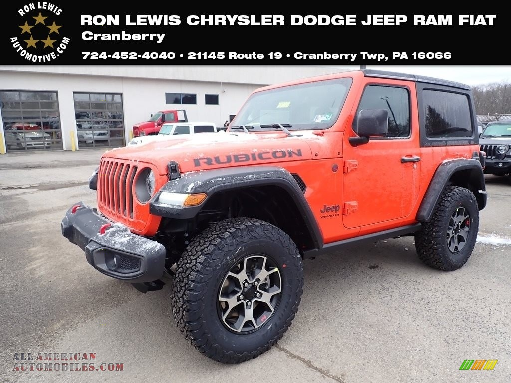 2020 Wrangler Rubicon 4x4 - Punkn Metallic / Black photo #1