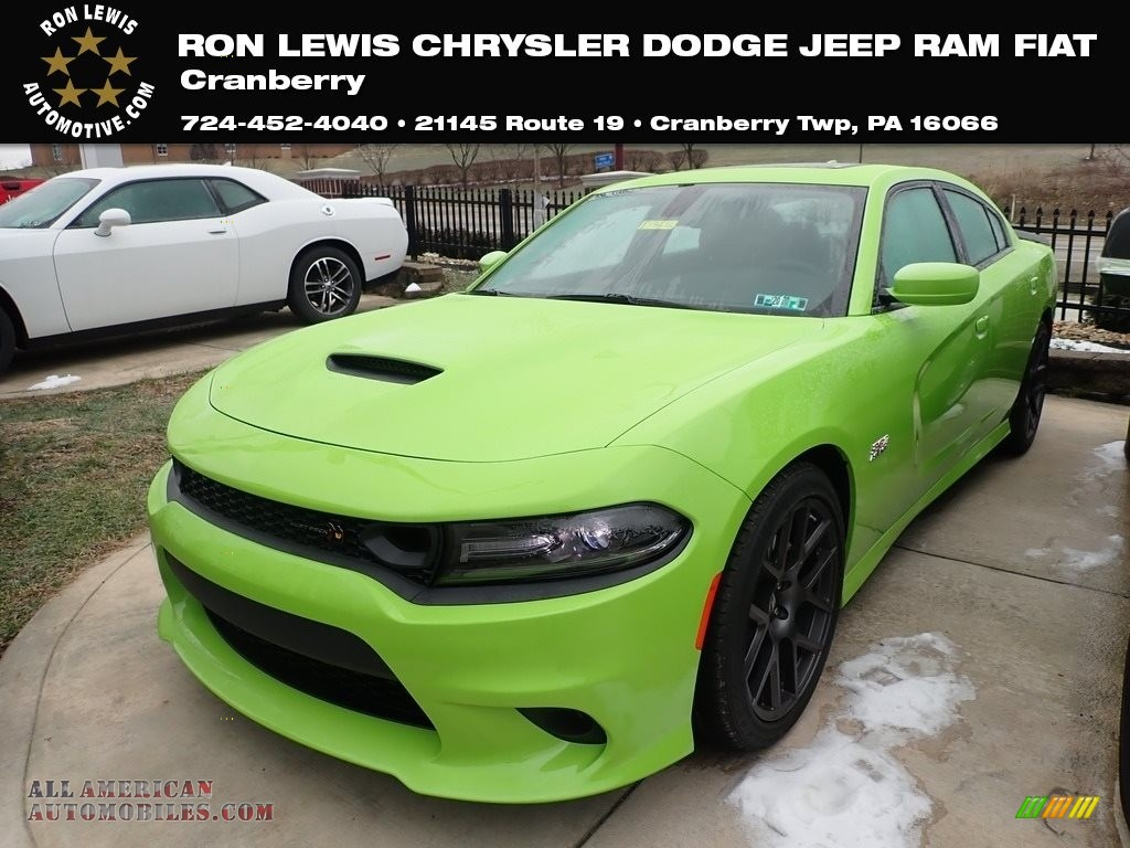 2019 Charger R/T Scat Pack - Sublime Metallic / Black photo #1