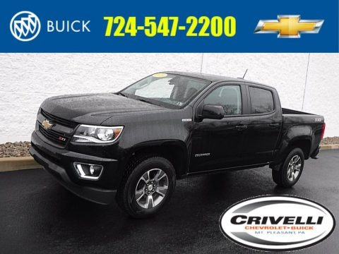 Black 2019 Chevrolet Colorado Z71 Crew Cab 4x4