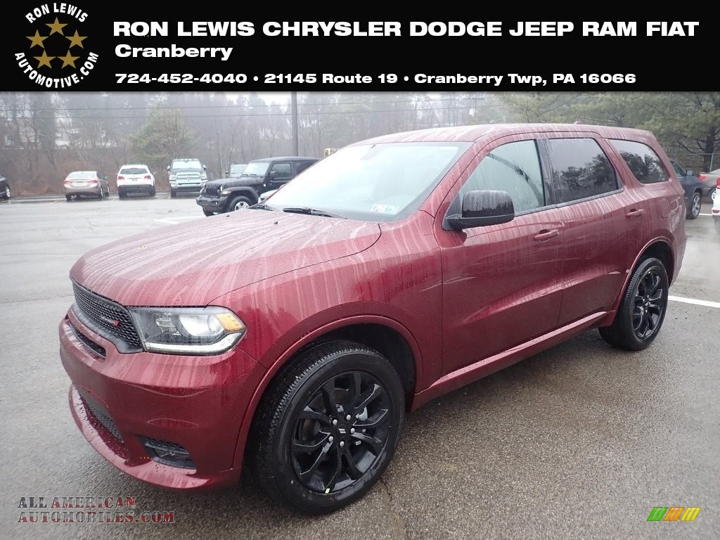 2020 Durango GT AWD - Octane Red Pearl / Black photo #1