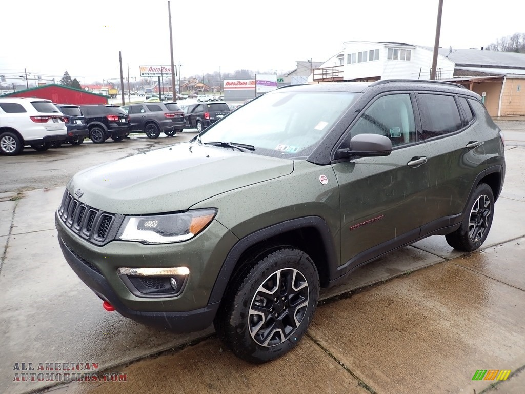 2020 Compass Trailhawk 4x4 - Olive Green Pearl / Black photo #1