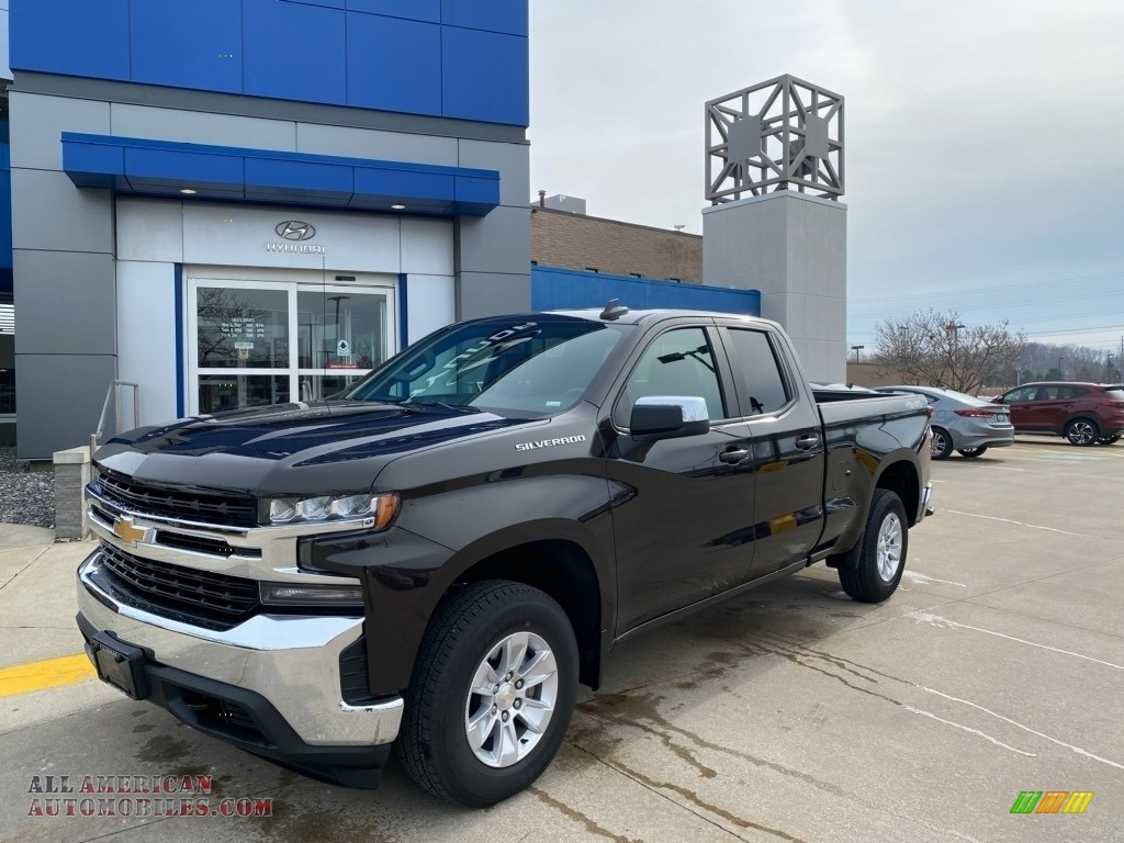 2020 Silverado 1500 LT Double Cab 4x4 - Havana Brown Metallic / Jet Black photo #1