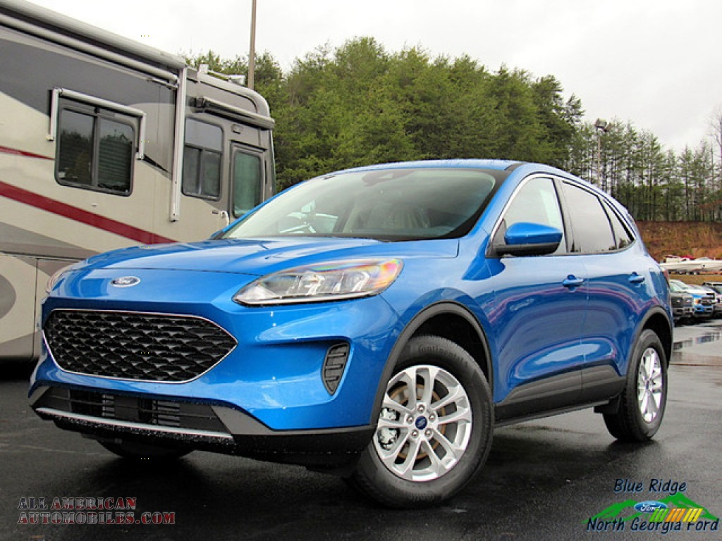 2020 Escape SE 4WD - Velocity Blue Metallic / Sandstone photo #1