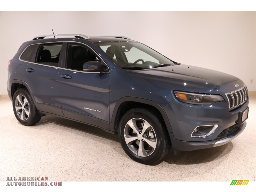 2020 Cherokee Limited 4x4 - Blue Shade Pearl / Black photo #1