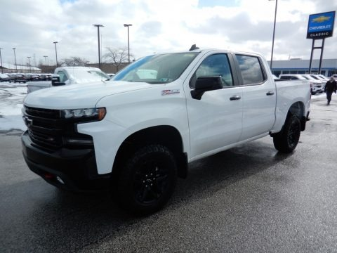 Summit White 2020 Chevrolet Silverado 1500 LT Trail Boss Crew Cab 4x4