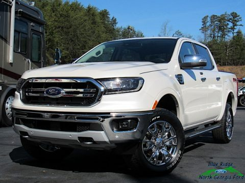 White Platinum 2020 Ford Ranger Lariat SuperCrew 4x4