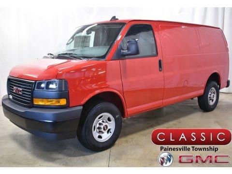 Cardinal Red 2020 GMC Savana Van 2500 Cargo