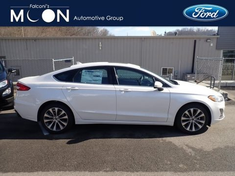 White Platinum 2020 Ford Fusion SE AWD