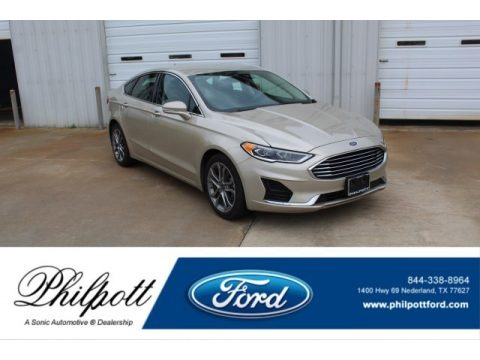 White Gold 2019 Ford Fusion SEL
