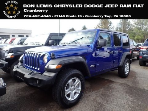 Ocean Blue Metallic 2020 Jeep Wrangler Unlimited Sport 4x4