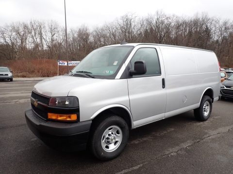 Silver Ice Metallic 2020 Chevrolet Express 2500 Cargo WT