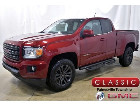 Red Quartz Tintcoat 2020 GMC Canyon SLE Extended Cab 4WD