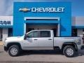 Chevrolet Silverado 2500HD Work Truck Crew Cab 4x4 Silver Ice Metallic photo #1