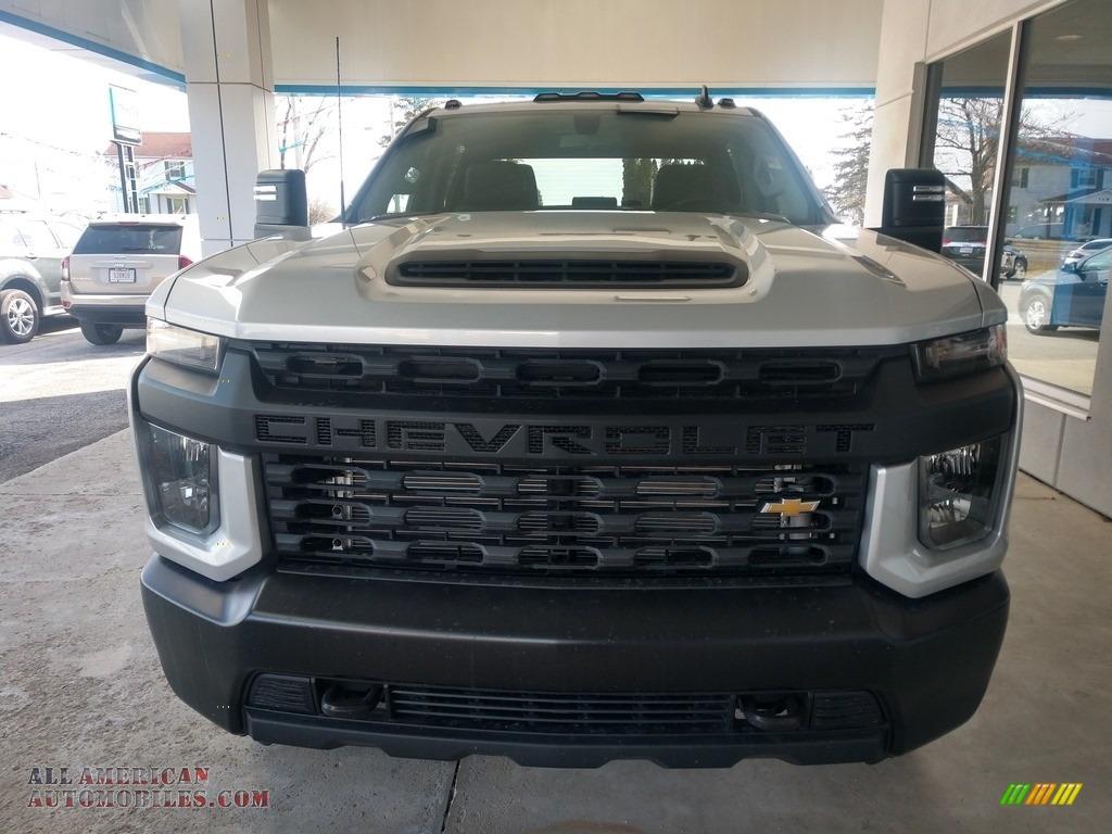2020 Silverado 2500HD Work Truck Crew Cab 4x4 - Silver Ice Metallic / Jet Black photo #9