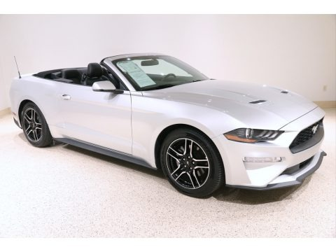 Ingot Silver 2019 Ford Mustang EcoBoost Premium Convertible