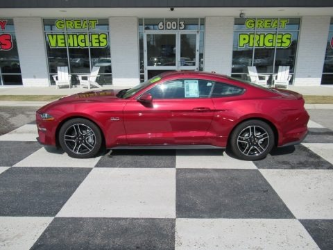 Ruby Red 2019 Ford Mustang GT Fastback