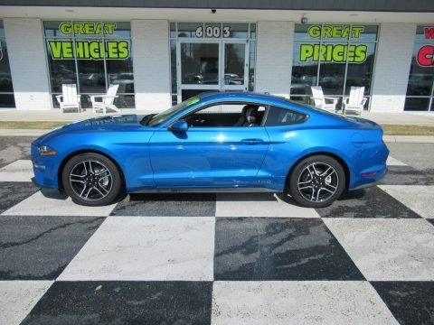 Kona Blue 2019 Ford Mustang EcoBoost Premium Fastback