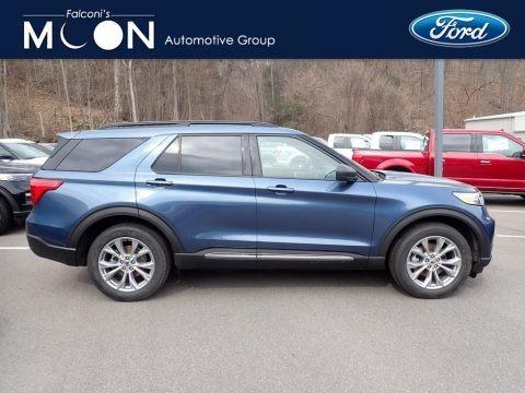 Blue Metallic 2020 Ford Explorer XLT 4WD
