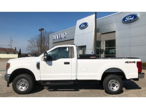 Oxford White 2020 Ford F350 Super Duty XLT Regular Cab 4x4