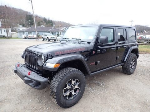 Black 2020 Jeep Wrangler Unlimited Rubicon 4x4