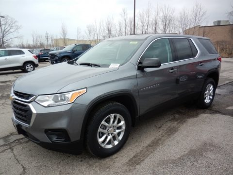 Satin Steel Metallic 2020 Chevrolet Traverse LS AWD