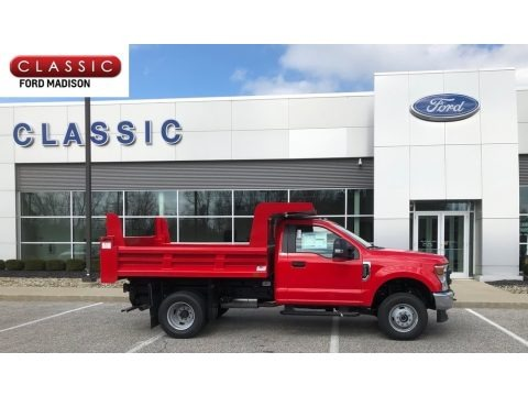 Race Red 2020 Ford F350 Super Duty XL Regular Cab 4x4 Chassis Dump Truck