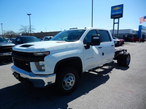 Summit White 2020 Chevrolet Silverado 3500HD Work Truck Crew Cab 4x4 Chassis