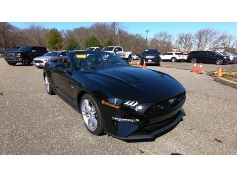 Shadow Black 2020 Ford Mustang GT Premium Convertible