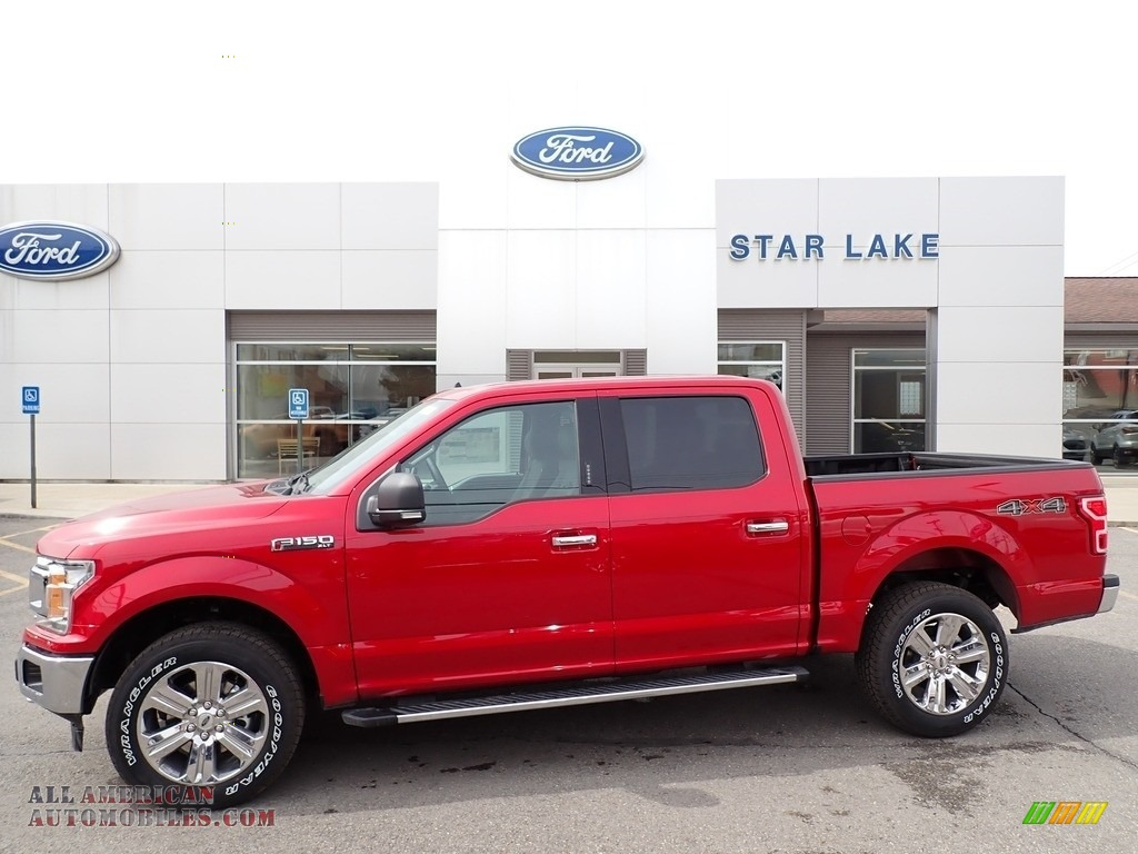 2020 F150 XLT SuperCrew 4x4 - Rapid Red / Medium Earth Gray photo #1