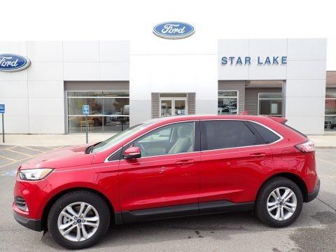 Rapid Red Metallic 2020 Ford Edge SEL AWD