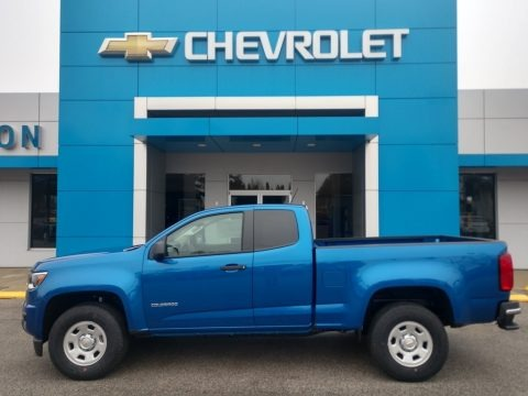 Kinetic Blue Metallic 2020 Chevrolet Colorado WT Extended Cab
