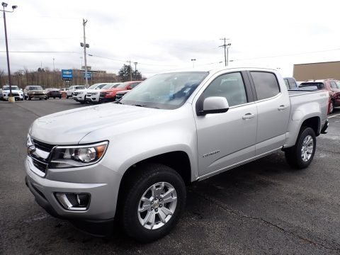 Silver Ice Metallic 2020 Chevrolet Colorado LT Crew Cab 4x4