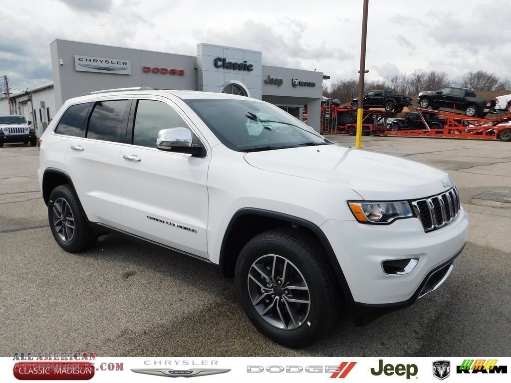 Bright White / Black Jeep Grand Cherokee Limited 4x4