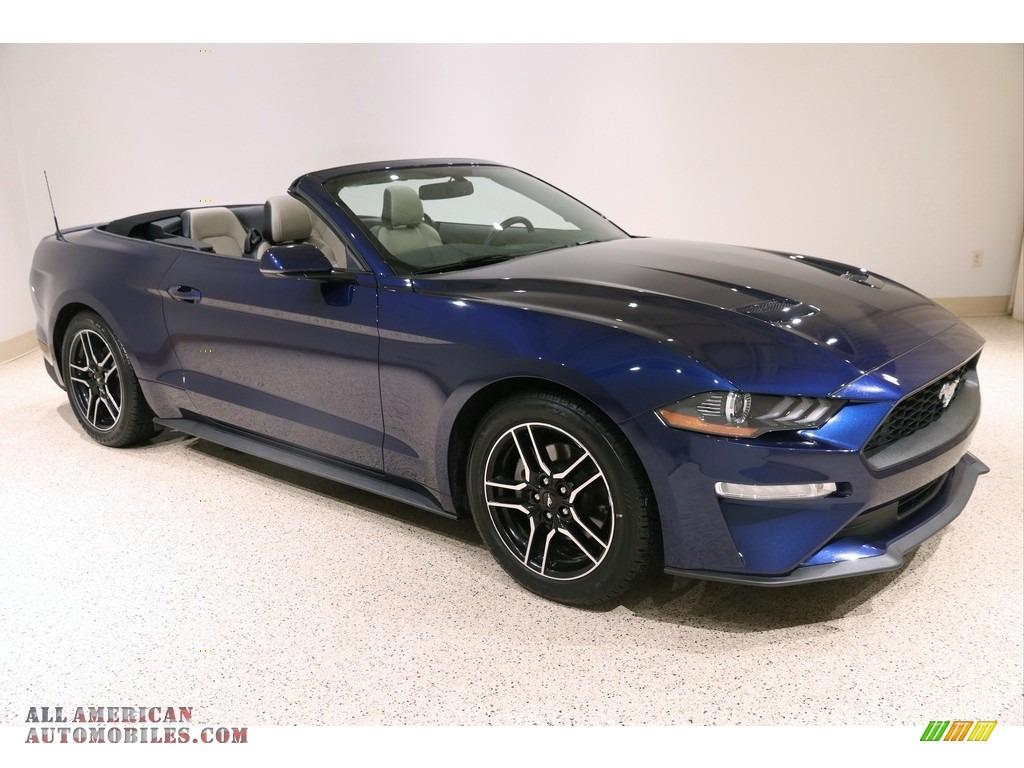 2019 Mustang EcoBoost Premium Convertible - Kona Blue / Ceramic photo #1