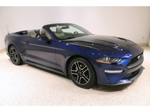 Kona Blue 2019 Ford Mustang EcoBoost Premium Convertible