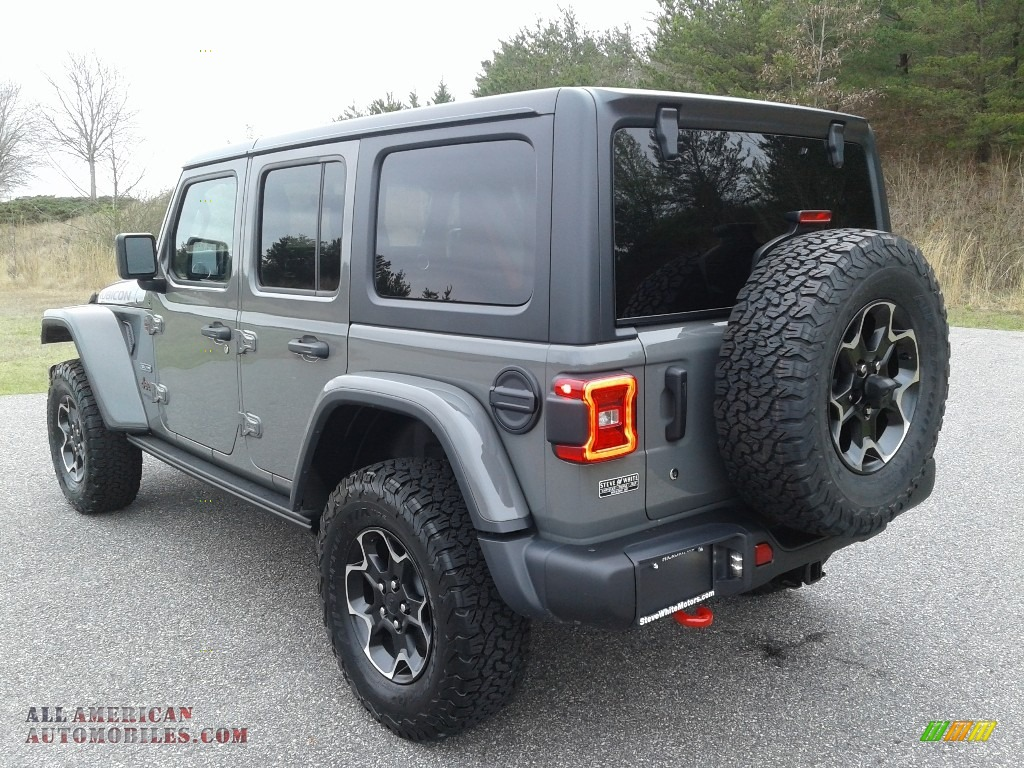 2020 Wrangler Unlimited Rubicon 4x4 - Sting-Gray / Black photo #8