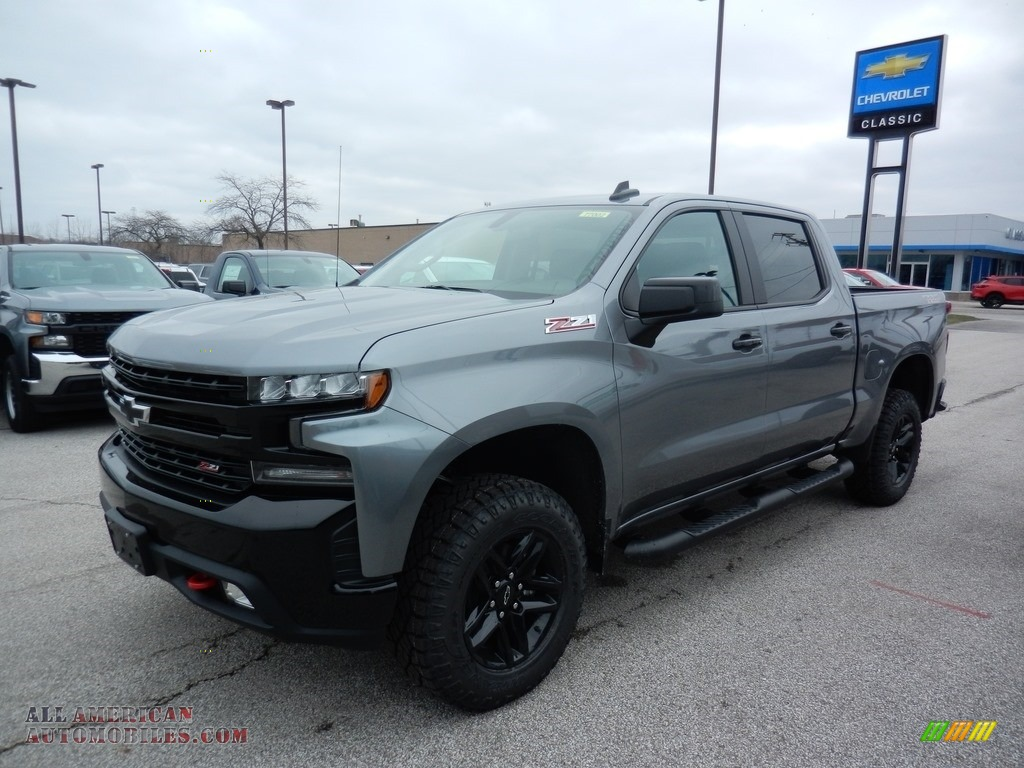 2020 Silverado 1500 LT Z71 Crew Cab 4x4 - Satin Steel Metallic / Jet Black photo #1